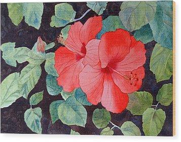 Hibiscus Wood Print by Laurel Best
