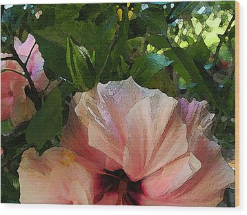 Hibiscus Seclusion Wood Print