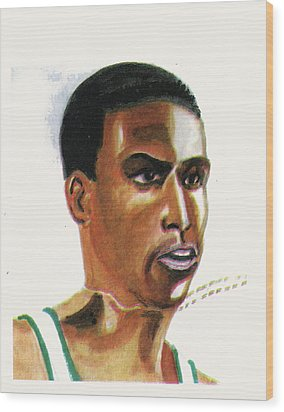 Hichan El Guerrouj Wood Print by Emmanuel Baliyanga