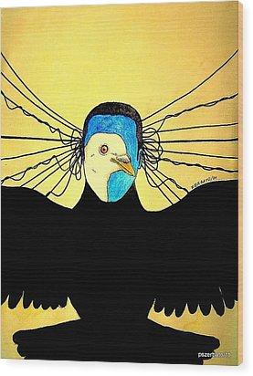 Hidden Face Of Prisons Wood Print by Paulo Zerbato