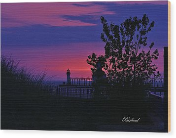 Hidden Sunset Wood Print