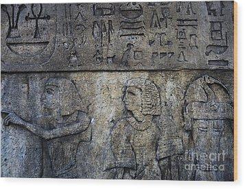 Hieroglyphs Wood Print by Lee Dos Santos