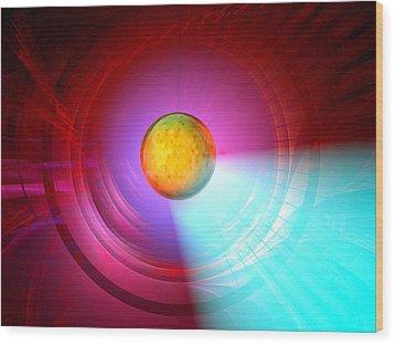 Higgs Boson Particle, Artwork Wood Print by Laguna Design