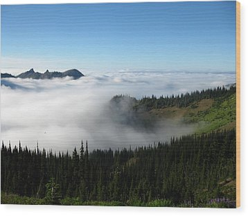 High Above The Clouds Wood Print