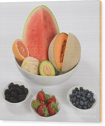 High Carbohydrate Fruit Wood Print by Photo Researchers, Inc.
