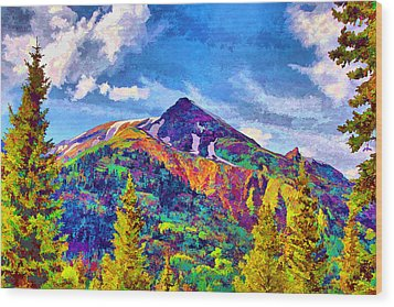 Wood Print featuring the digital art High Country Pyramid by Brian Davis