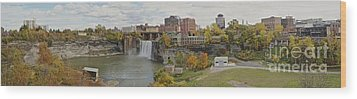 Wood Print featuring the photograph High Falls Panorama by William Norton