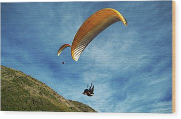 Wood Print featuring the photograph High Flyers by Lorraine Devon Wilke