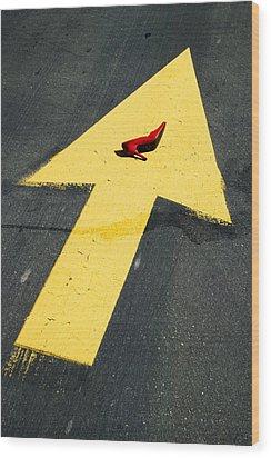 High Heel And Arrow Wood Print by Garry Gay