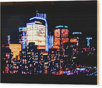 High-lights Wood Print by Val Oconnor