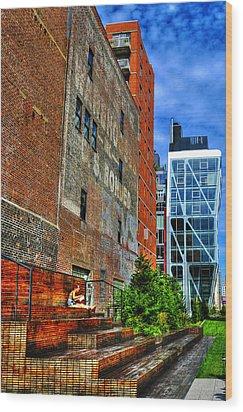 High Line Park Scene Wood Print by Randy Aveille