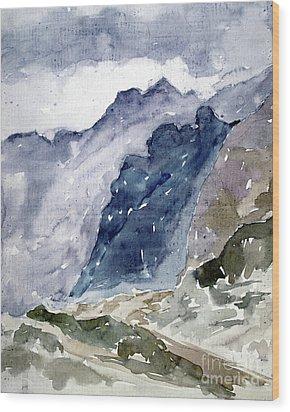 High Mountains Wood Print by Dariusz Gudowicz