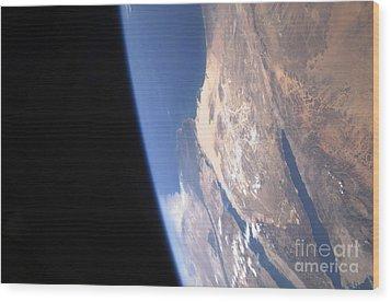 High Oblique Scene Looking Wood Print by Stocktrek Images