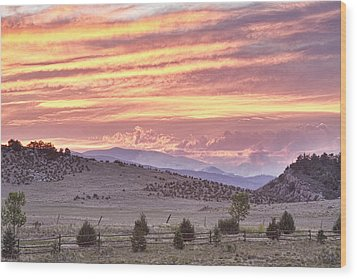 High Park Fire Larimer County Colorado At Sunset Wood Print by James BO  Insogna