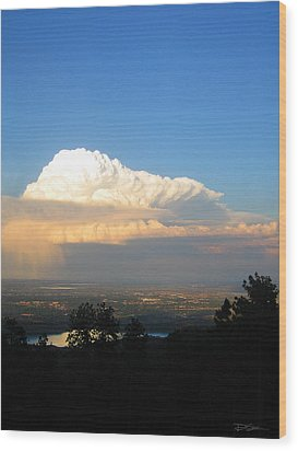 High Plains Thunder Wood Print by Ric Soulen