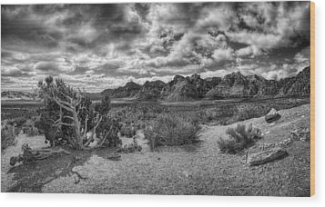 High Point Monochrome Wood Print by Stephen Campbell