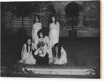 High School Play, Original Caption Miss Wood Print by Everett
