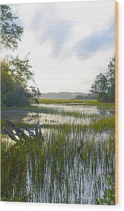Wood Print featuring the photograph High Tide by Margaret Palmer