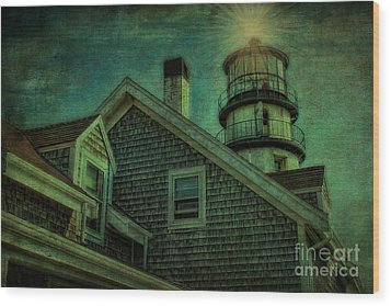 Wood Print featuring the photograph Highland Lighthouse by Gina Cormier