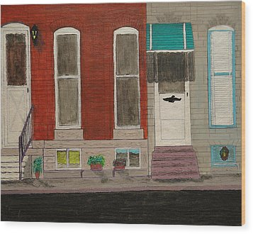 Highlandtown Wood Print