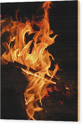 Highly Defined Flame Wood Print
