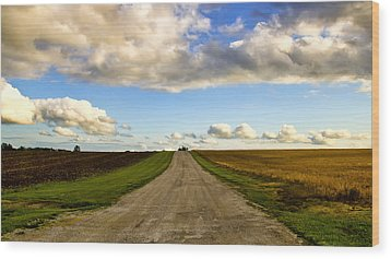 Highway D New Melle Mo 3 Wood Print by Bill Tiepelman
