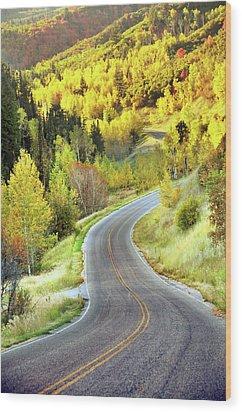 Highway Near Alpine Wood Print by Utah-based Photographer Ryan Houston