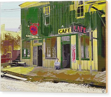 Wood Print featuring the mixed media Hilliard Bar by Charles Shoup