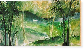 Hills Of Arkansas Wood Print by Robin Miller-Bookhout