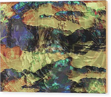 Hills Of Gold Wood Print by Monroe Snook