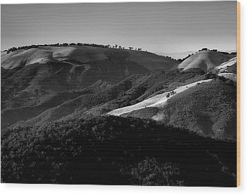 Hills Of Light And Darkness II Wood Print by Steven Ainsworth