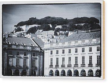 Hills Of Lisbon Wood Print by John Rizzuto