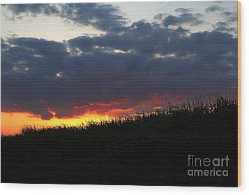 Wood Print featuring the photograph Hillside Fire by Everett Houser