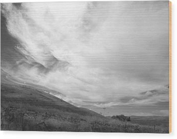 Wood Print featuring the photograph Hillside Meets Sky by Kathleen Grace