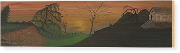 Hillside Wood Print by Shadrach Ensor