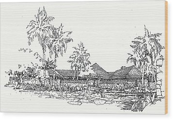 Hilo House Wood Print by Andrew Drozdowicz