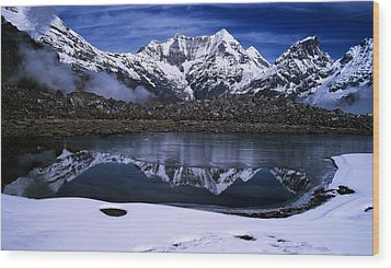 Himalayas Wood Print by Greg Palmer