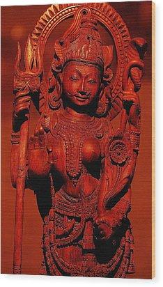 Hindu Goddess Wood Print by Abhilash G Nath