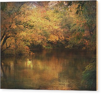 Hint Of September Wood Print by Jai Johnson