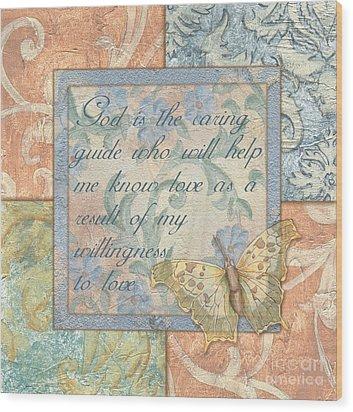 Hint Of Spring Butterfly 1 Wood Print by Debbie DeWitt