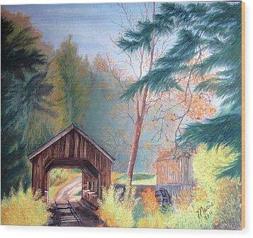 Hints Of Fall Wood Print by Maris Sherwood