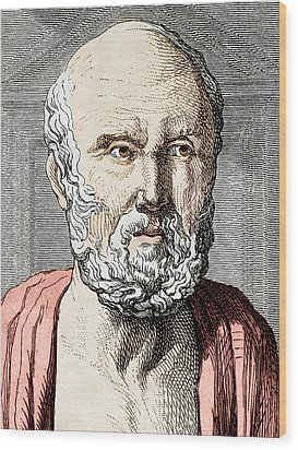 Hippocrates, Ancient Greek Physician Wood Print by Sheila Terry