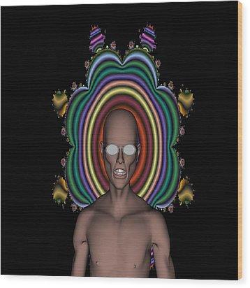 Hippy Punk Wood Print by Matthew Lacey