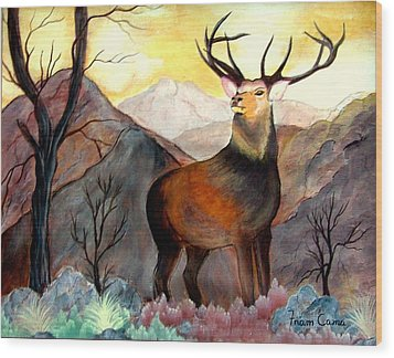 His Majesty Wood Print by Fram Cama