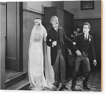 His Marriage Wow, 1925 Wood Print by Granger