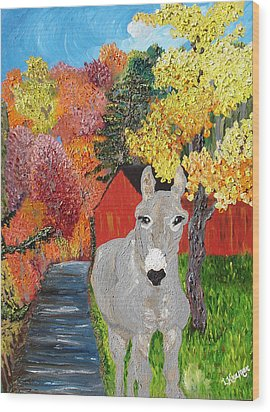 His Red Abode Wood Print by Lisa Kramer