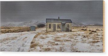 Historic Farm After Snowfall Otago New Wood Print by Colin Monteath