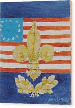 Historic Symbols Wood Print by Joan Landry