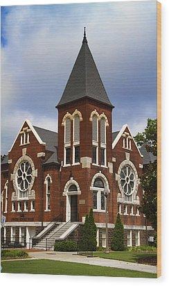 Historical 1901 Uab Spencer Honors House - Birmingham Alabama Wood Print by Kathy Clark