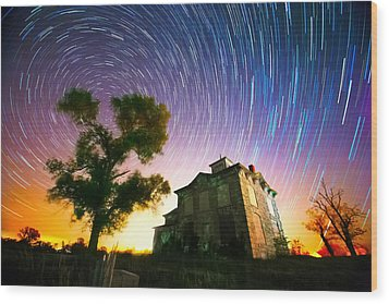 History Of The Universe Wood Print by Evan Ludes